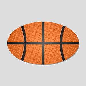 Basketball Pattern 20x12 Oval Wall Decal