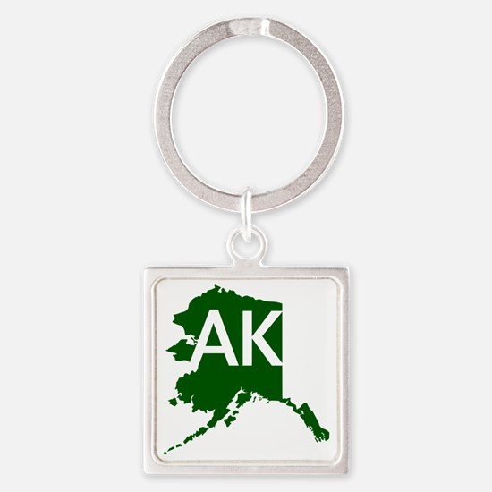 Alaska Square Keychain