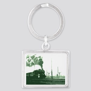 The Old Steam Engine Landscape Keychain