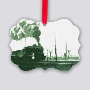 The Old Steam Engine Picture Ornament
