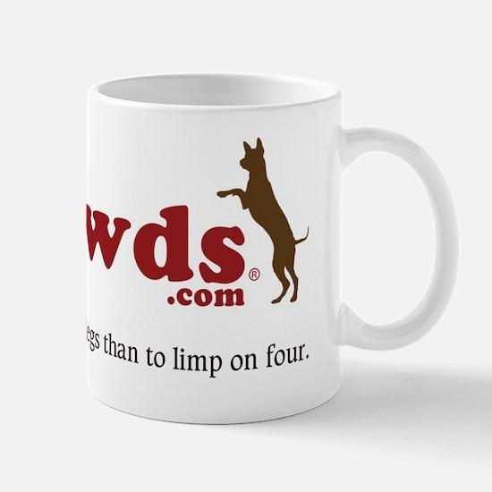 Tripawds Three Legged Dogs Tagline Mug