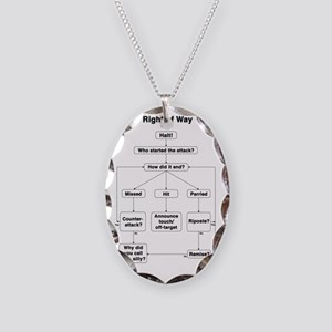 row-new Necklace Oval Charm