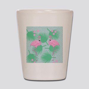 flamingos Shot Glass