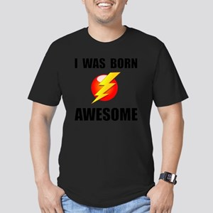 Born Awesome Men's Fitted T-Shirt (dark)