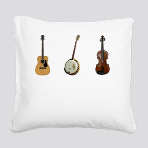 Folk You Square Canvas Pillow