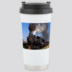 Antique steam engine tr Stainless Steel Travel Mug