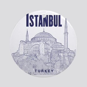Istanbul_10x10_HagiaSophia_v1_Blue Round Ornament