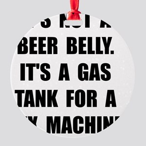 Beer Belly Round Ornament
