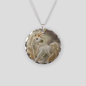 U Necklace Circle Charm