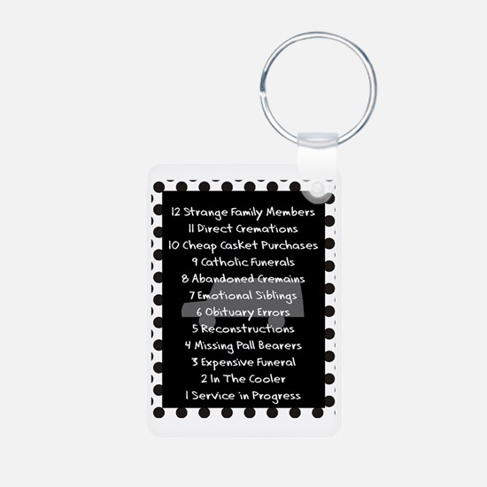 funeral proof 8 Keychains