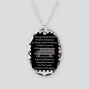 funeral proof 8 Necklace Oval Charm