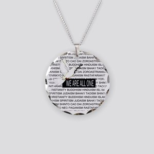 WE ARE ALL ONE Necklace Circle Charm