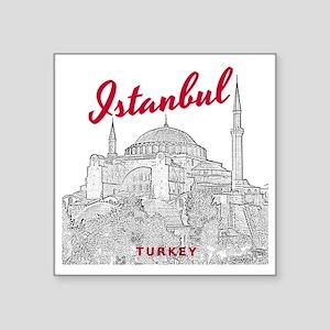 """Istanbul_10x10_HagiaSophia_ Square Sticker 3"""" x 3"""""""