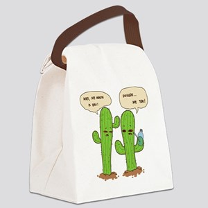 dry mouth Canvas Lunch Bag