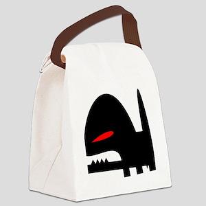 Evil Dog Canvas Lunch Bag