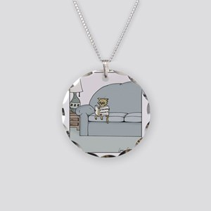 String Theory Necklace Circle Charm