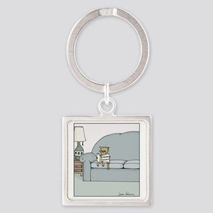 String Theory Square Keychain