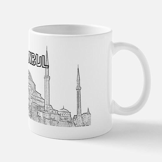 Istanbul_15x6_HagiaSophia_Black Mug