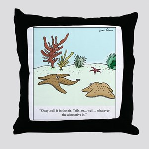 Starfish Coin Throw Pillow