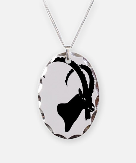 ibex capricorn steinbock mount Necklace