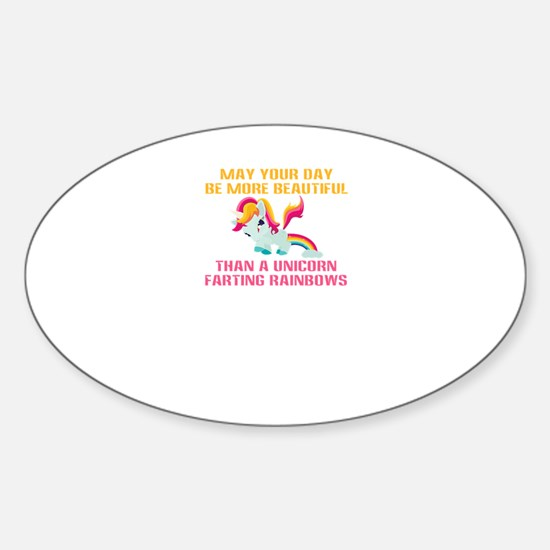 Unicorn Farting Rainbows Decal