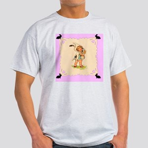 Cute Vintage Bunny Girl Light T-Shirt