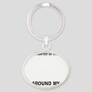 Weimaraner Dog  designs Oval Keychain