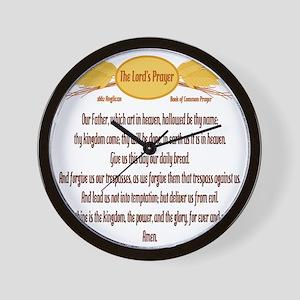The Lords Prayer Wheat Wall Clock