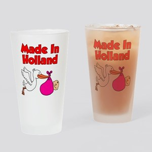 Made In Holland Girl Drinking Glass