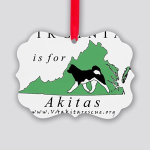 Virginia is for Akitas Picture Ornament