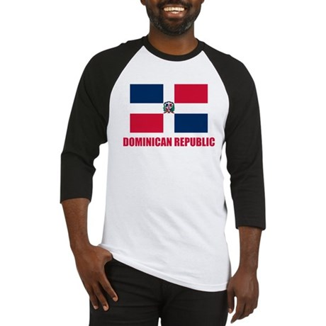 Dominican Republic Flag Baseball Jersey