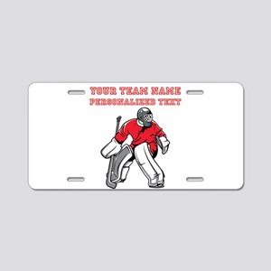Hockey Aluminum License Plate