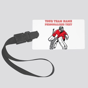 Hockey Luggage Tag