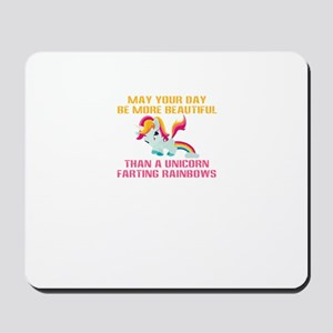 Unicorn Farting Rainbows Mousepad