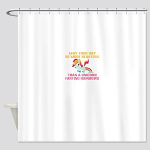 Unicorn Farting Rainbows Shower Curtain