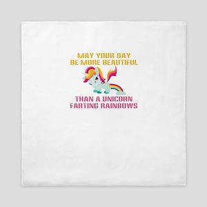 Unicorn Farting Rainbows Queen Duvet