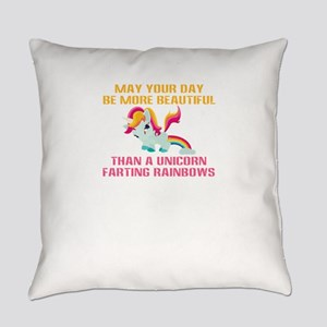 Unicorn Farting Rainbows Everyday Pillow