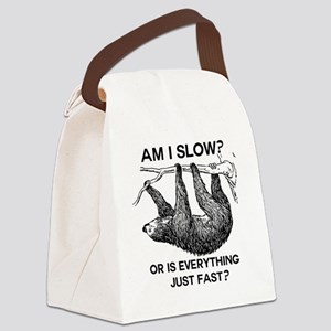 Sloth Am I Slow? Canvas Lunch Bag
