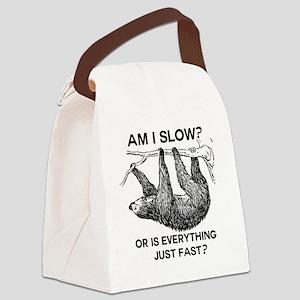 Sloth Am I Slow? Canvas Lunch Bag