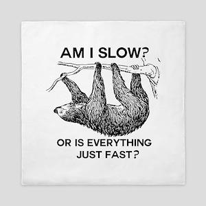 Sloth Am I Slow? Queen Duvet