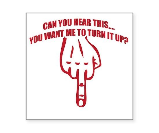 Hear red square sticker 3