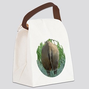round rhino BF Canvas Lunch Bag