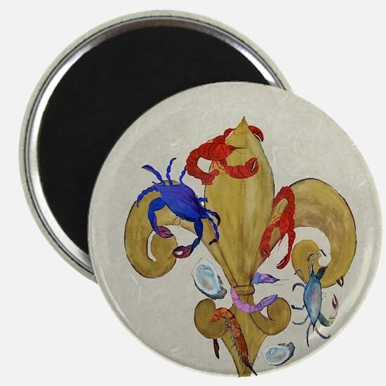 Cajun fleur de lis Magnet
