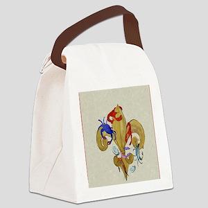 Cajun fleur de lis Canvas Lunch Bag