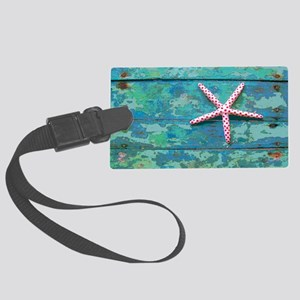 Starfish and Turquoise Large Luggage Tag