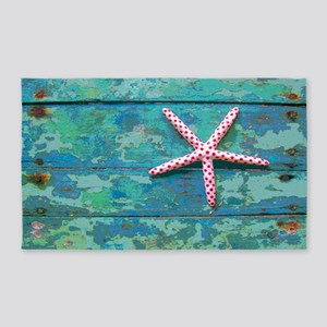 Starfish and Turquoise 3'x5' Area Rug
