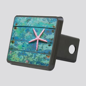 Starfish and Turquoise Rectangular Hitch Cover