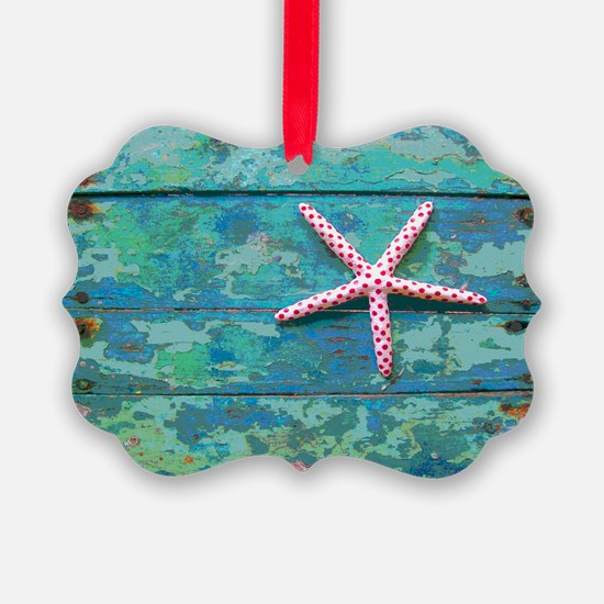 Starfish and Turquoise Ornament