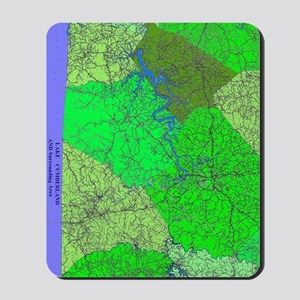 Lake Cumberland Map Mousepad