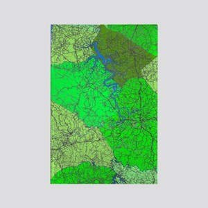 Lake Cumberland Map Rectangle Magnet